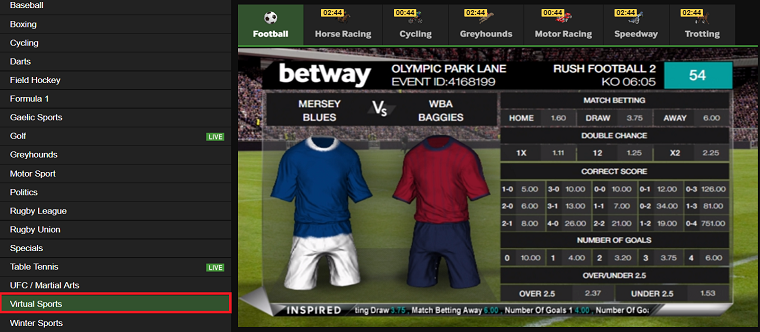 Virtual Sports Betting - 28654