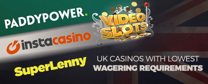Lowest Wagering Requirements - 75016