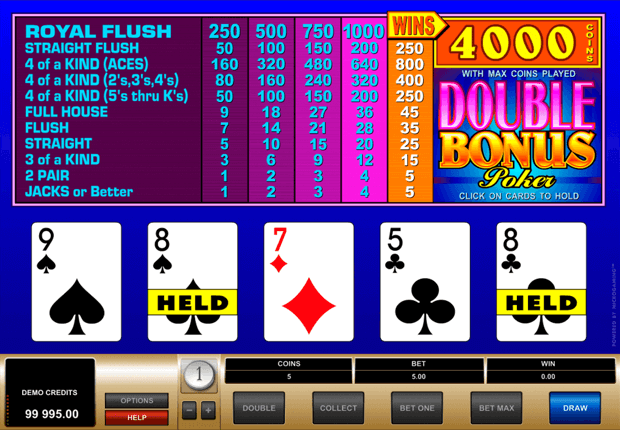 Video Poker Pay - 29896