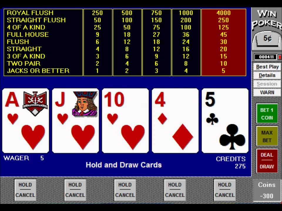 Video Poker Pay - 25395